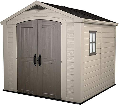 Kunststoff-Gartenlagerschuppen für alle Outdoor-Gartengeräte und Geräte ideal für Außenlagerung,Beige
