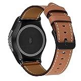 MroTech Correa Cuero 20mm Compatible para Samsung Galaxy Watch 42mm/Active/Active2 40mm 44mm/Gear Sport/S2 Classic Pulseras...