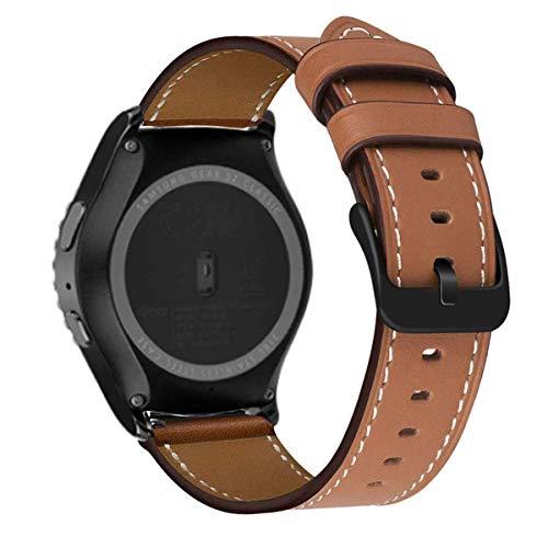 MroTech Uhrenarmband kompatible mit Samsung Galaxy Watch Active 2 Armband 20mm Lederarmband Ersatz für Galaxy Watch Active/Active2 40mm/44mm Bracelet Band Ersatzarmband Braun