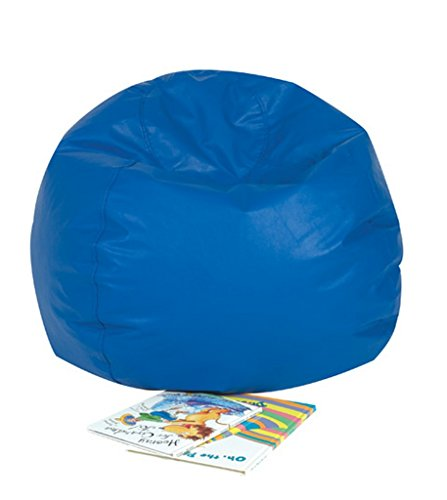 "Children's Factory - CF610-001 26"" Kids Bean Bag Chairs, Flexible Seating Classroom Furniture, Beanbag Ideal for Boy/Girl Toddler Daycare or Playroom, Blue"