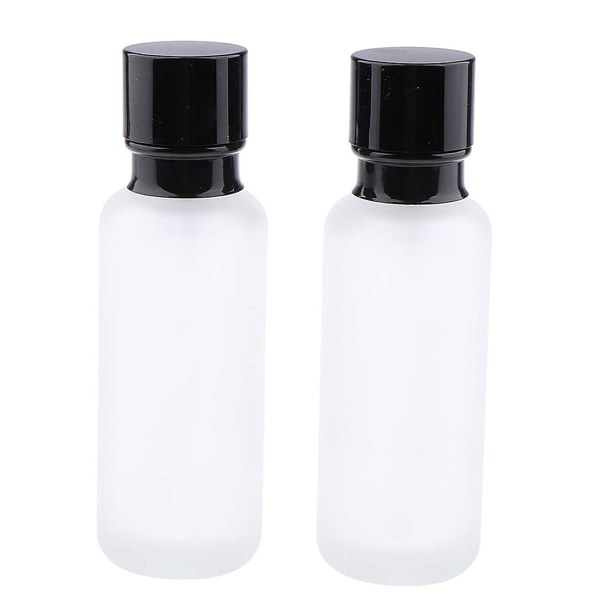 変装した作曲する批判的T TOOYFUL 2個入り 化粧ボトル ポンプボトル ローションジャー ガラス コンテナ 50/120ml 全2サイズ - 120ミリリットル