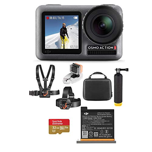 DJI Osmo Action 4K HDR Camera - Bundle with Vivitar Adventure On Water Action Bundle, and 32GB Memory Card