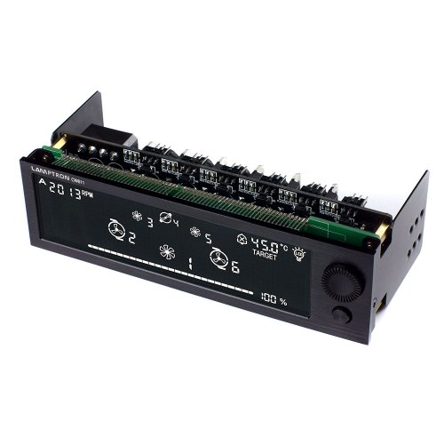 Lamptron Watercooling Controller CW611, Black Panel