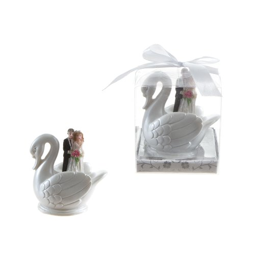 Lunaura Wedding Keepsake - Set of 12 Wedding Couple Standing in Swan Favors