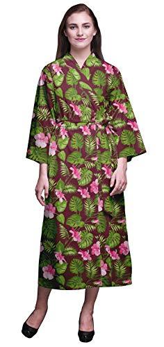 Bimba borgona Floral Hojas Tropicales y Bata de baño Kimono Mujer Impresa Bata Kimono para niñas Batas Cruzadas Bata de baño para niñas XS