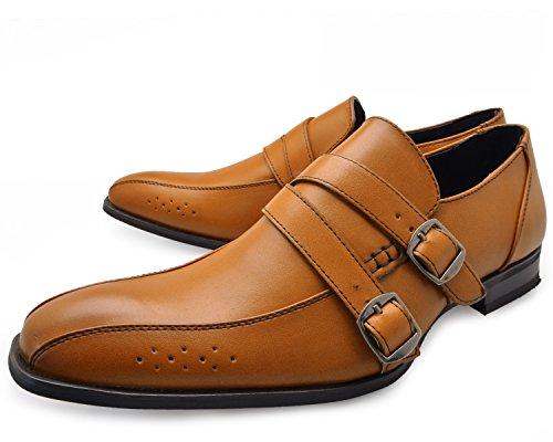 [カポラヴォーロ] ca-20-2007 ビジネスシューズ [ メンズ ] Mens [ ブラウン 茶 ] BROWN ダブルモンク スワールモカシン スクエアトゥ モンクストラップ 紳士靴 大きいサイズ 就活 靴 [ サイズ ] size 26.0cm