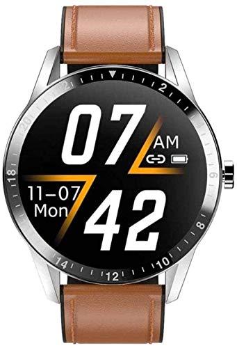 Smart Watch Fitness Tracker 1.3 Color Pantalla táctil IP67 Impermeable 15 Actividades Deportivas Frecuencia Cardíaca Monitor de Sueño Recordatorio de Mensajes para iOS Android-Marrón-Plateado Marrón