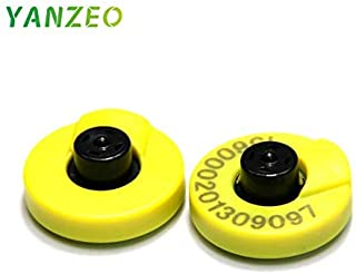 Yanzeo 134.2khz ISO11784 ISO11785 FDX-B RFID Ear tag for Animal Cattle Sheep Pig Management 10pcs