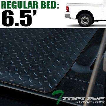 Topline Autopart Black Rubber Diamond Plate Truck Bed Floor Mat Liner For 02-18 Dodge Ram 1500 2500 3500 Rambox Cargo Management System / 19-20 1500 Classic 6.4 Feet (76.8') / 6.5 Feet (78') Bed