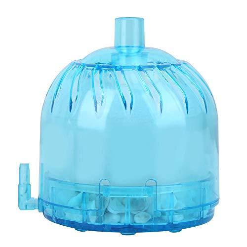 Hffheer Aquarium Pneumatisch Filter Mini Vis Tank Biochemische Filter Rustige Luchtaangedreven Filter voor Vis Tank Zoet Water Zout Water, Blauw