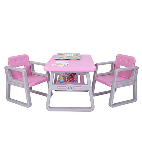 Kids Table and Chairs Set - Toddler Activity Chair Best for Toddlers Lego, Reading, Train, Art Play-Room Little Kid Children Furniture Accessories - Plastic Des (2 Childrens Seats with 1 Tables Sets)