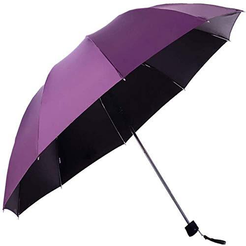 MGEE Paraguas Plegable A Prueba De Viento De Viaje, Paraguas De Golf con Cierre Automático, Ligero 10 Varillas Automático A Prueba De Viento(Color:B)