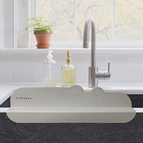 HIROZAKU Croco Sink Splash Guard - Premium Silicone Water...