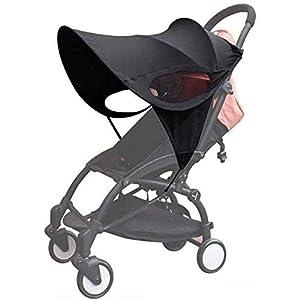 Parasol para cochecito, Sombrilla para cochecito, Toldo carrito bebe anti-UV, Universal y fácil de instalar