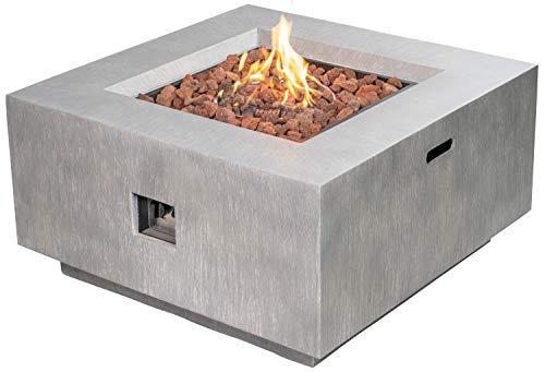 ACTIVA Brasero de gas Santa Monica, terraza, jardín, chimenea, exterior, gas, fuego, fuego, mesa de gas, mesa de fuego, mesa de fuego, mesa de exterior, para exteriores