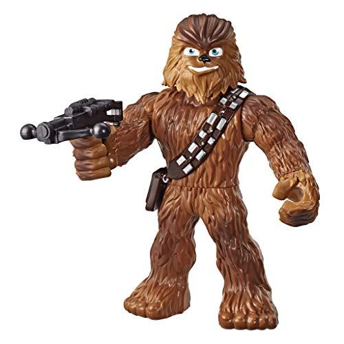 Star Wars Galactic Heroes Mega Mighties Chewbacca Actionfigur mit Bowcaster Zubehör, Spielzeug für Kinder ab 3 Jahren