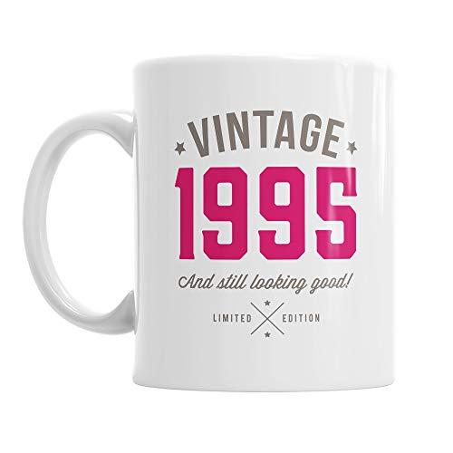 Taza de 25 cumpleaños - Para hombre y mujer - Como regalo divertido o recuerdo - Blanco - 295ml (10 fl oz)