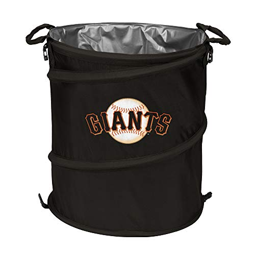 MLB San Francisco Giants Collapsible 3-in-1 Sporting Cooler Trash Can, Black/Orange