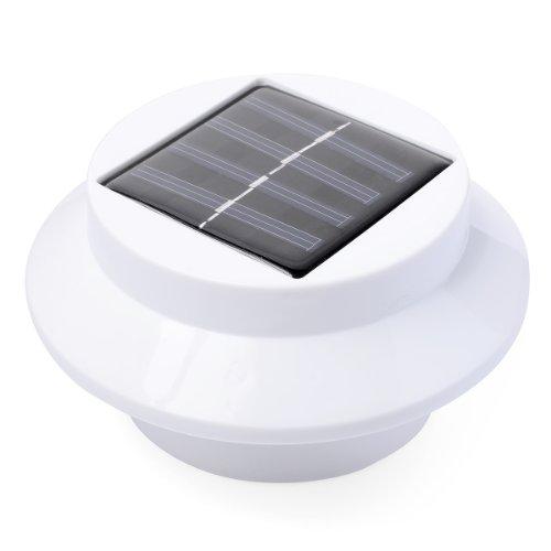 1 lot de 3 LED énergie solaire énergie Clôture gouttière lumière extérieure Jardin mur Lobby Chemin Lampe