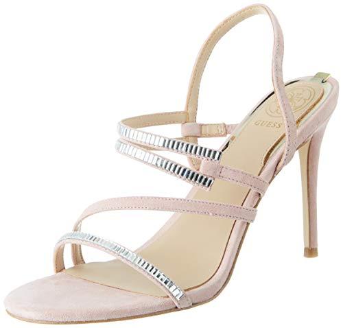 Guess Damen Kaden/Sandalo Suede Sandale mit Absatz, Mittelrosa, 39 EU