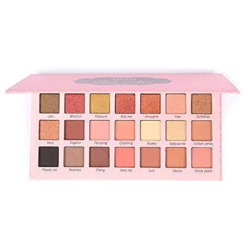 Allwon Eyeshadow Palette Shimmer Neutral Palette Nudes Warmer natürlicher Lidschatten, 21 Farben
