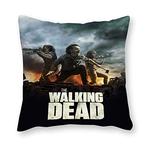 The Walking Dead - Almohada de lona para cojín (40 x 40 cm, sin relleno)