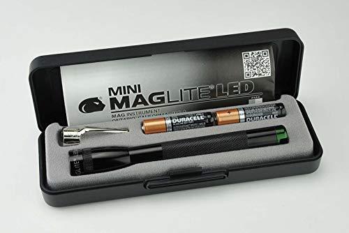 MAGLITE Mini Maglite Spectrum LED 2AAA Taschenlampe schwarz (grüne LED)