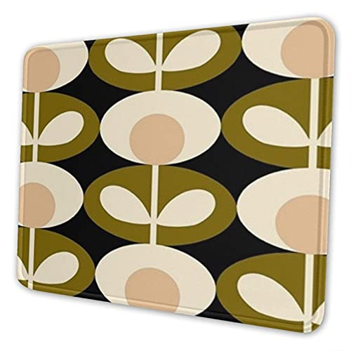 Orla Kiely Design Non-Slip Mousepad Gaming Computer Mouse Pad Desktop Laptop Mouse Pad with Stitched Edge 10x12 in