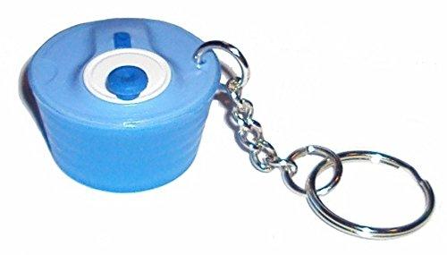 Miniatur Tupperware Spin N Save Salatschleuder Schlüsselanhänger blau
