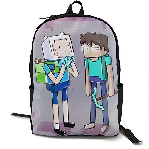 Min-E_Cra-Ft Sand-Box 16.5 pulgadas doble compartimento mochila para estudiante mochila escolar adecuada para niños y niñas escuela universidad viajes al aire libre