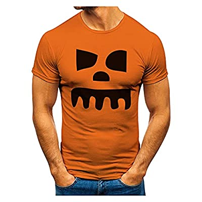 Halloween-Motiv T-Shirt Herren Kurzarm