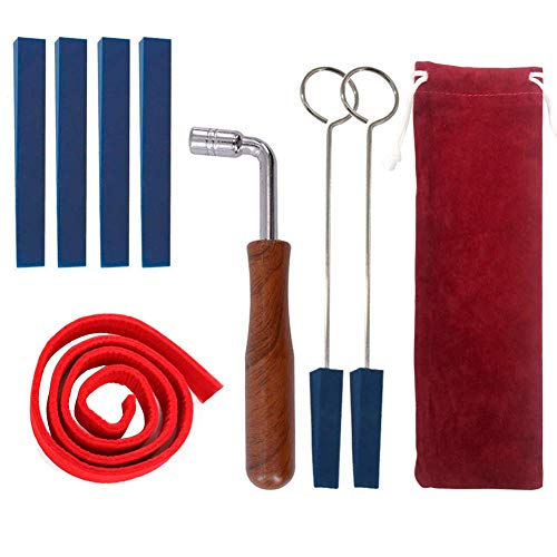 YZNlife 8pcs Piano Tuner Kit Piano Tunning Wrench Hammer Rubber Mute Felt Temperament Strip Fixing Tool Set Kit