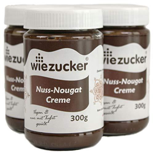 Wiezucker Nuss-Nougat-Creme mit Xylit-Schokolade, 33% Haselnuss (3x 300g)