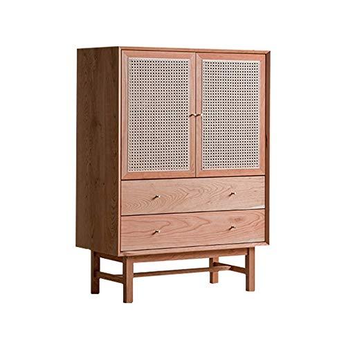 ZzheHou Massivholz Sideboard Lagerschrank Anrichte Buffet Schrank for Esszimmer Home Küche Geeignet für Wohnzimmer (Color : Natural, Size : 111.5x80x40cm)