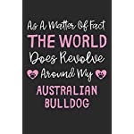 As A Matter Of Fact The World Does Revolve Around My Australian Bulldog: Lined Journal, 120 Pages, 6 x 9, Funny Australian Bulldog Gift Idea, Black … Revolve Around My Australian Bulldog Journal)