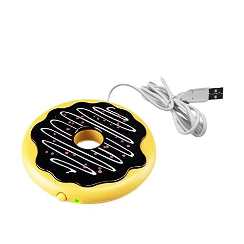 Yuxinkang Posavasos de Calentamiento USB Plato Calefactor de Taza de té de Leche eléctrica de plástico para Tazas multifuncionales Tazas de cerámica Tazas de Metal Café Té Leche y Otras Bebidas