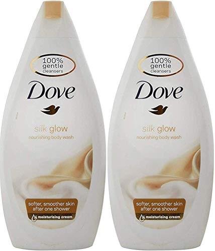 Dove Soie Corps Lavage - 500 ML (Paquet de 2)