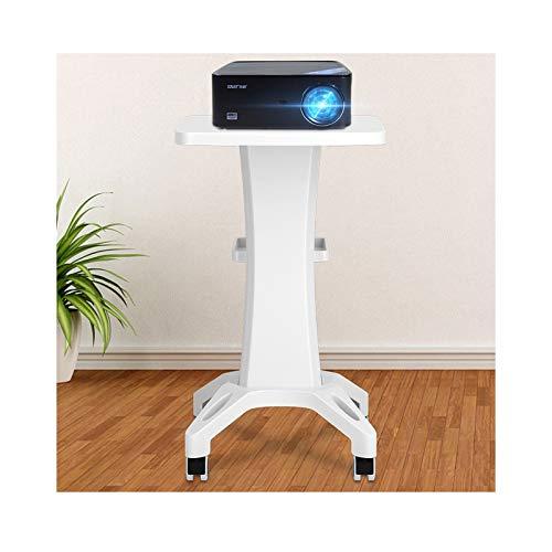 zxb-shop Soporte Proyector Soportes de proyector Blanco, mesas de Piso de Video multifunción en Ruedas |Carro de Laptop móvil, sobre Ruedas de Ruedas. DJ