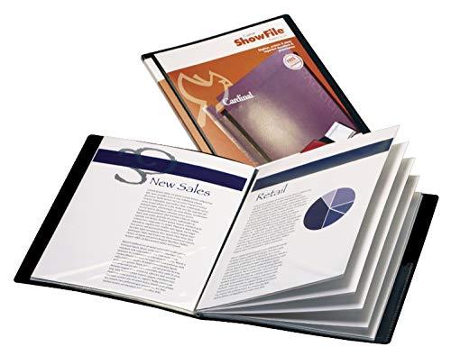 Cardinal Custom ShowFile Presentation Book, Black, Letter Size, 1 per Box, (50032CB)