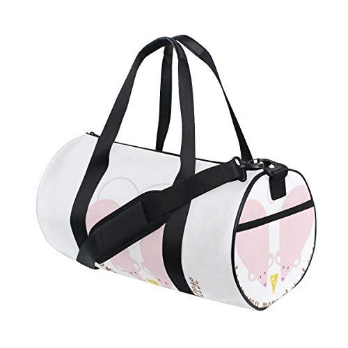 HARXISE Bolsa de Viaje,Impresión mágica Rosada de la fantasía,Bolsa de Deporte con Compartimento para Sports Gym Bag