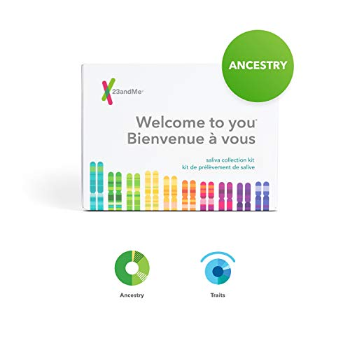 23andMe Ancestry + Traits Service: Personal Genetic DNA Test with 1500+ Geographic Regions, Family Tree, DNA Relative Finder, and Trait...