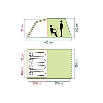 COLEMAN Coastline Deluxe 4 Tente Vert/Gris