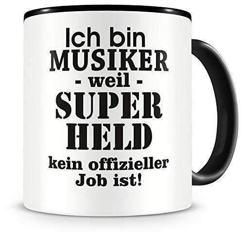 Samunshi® Ich bin Musiker Tasse Beruf Geschenk Kaffeetasse Teetasse Kaffeepott Kaffeebecher Becher Geburtstag schwarz 300ml