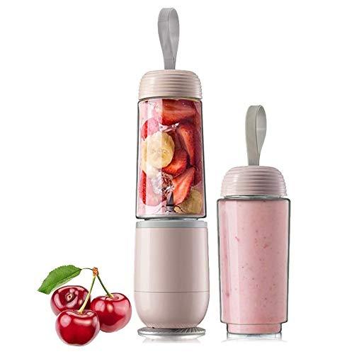 Marks 150W Personal Juice Machine Cocina Portátil Portátil Fruta y Vegetal Home Restaurant 2 Blade Steel Blade Home Sports Outdoor Mezclador (Color : Rosado)