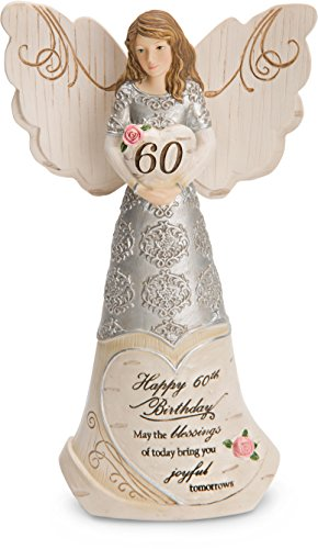 Image of the Pavilion Gift Company 82415 Elements Angels - Happy 60th Birthday May The Blessings of Today Bring You Joyful Tomorrows