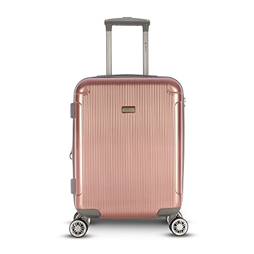Gabbiano Genova Collection Hardside 20 inch Upright Spinner (Rose Gold)