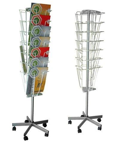 Prospektständer Drehbar mit 21 Taschen A4