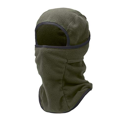 TRIWONDER Sturmhaube Balaclava Thermische Fleece Gesichtsmaske Halswärmer Winter Skimaske (Grün)