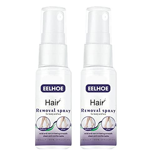 Lurrose 2 Botellas de Depilación Pulverizadora Removedor de Vello en Las Axilas Spray para Detener El Crecimiento de Vello Spray Depilatorio para Brazo Pierna