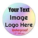 Custom Vinyl Label Stickers,150 ~ 420 Pack UV Print of Personalized Labels for Business Logo,Waterproof & Tearproof (1.5 inch Round)